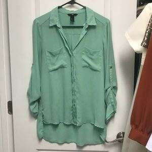 Slouchy button up shirt, loose fit
